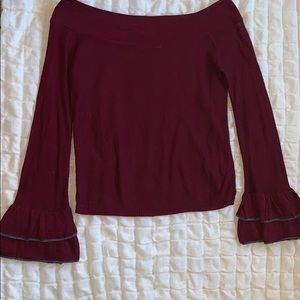 Tops - Off the shoulder bell sleeve sweater